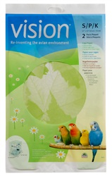 Papier pour cages Vision pour oiseaux, petit, 2 unités