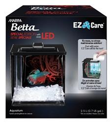 Aquarium équipé EZ Care Marina pour betta, série spéciale, noir, 2,5 L (0,7 gal US)