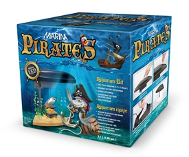 Aquarium équipé Pirates Marina, 3,7 L (1 gal US)