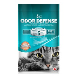 Litière agglomérante Odor Defense Cat Love de qualité supérieure pour chats, non parfumée, 12 kg (26,5 lb)