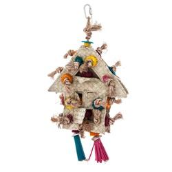 Maisonnette à fourrager Rustic Treasures HARI pour moyens et grands oiseaux à bec crochu
