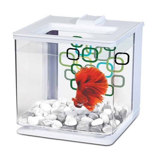Marina Betta EZ Care Aquarium - White
