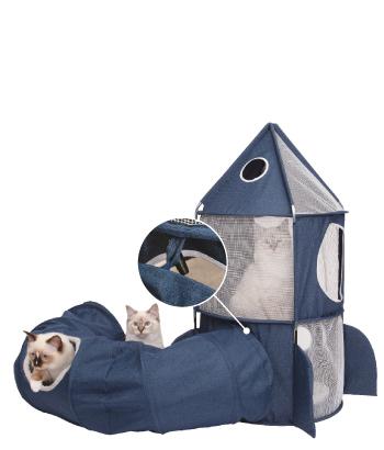 Pour les vrais  astro-chats! Agrandissez la station  spatiale de votre chat  à l'aide du tunnel  Vesper (NON INCLUS)