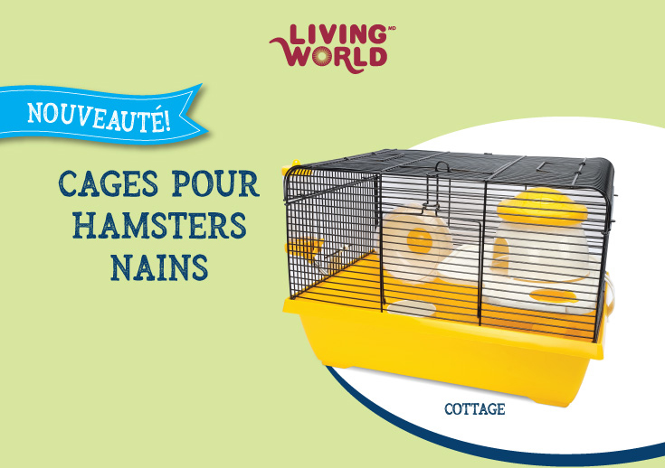 Cage Living World pour hamsters nainss