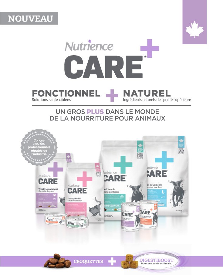 Nutrience Care - UN GROS PLUS DANS LE MONDE DE LA NOURRITURE POUR ANIMAUX