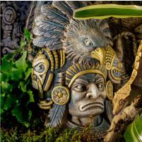 Cachette aztèque Exo Terra en forme de guerrier aigle